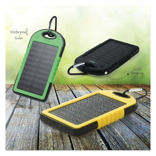 Solar Powerbank, waterproof, 4000Ahm