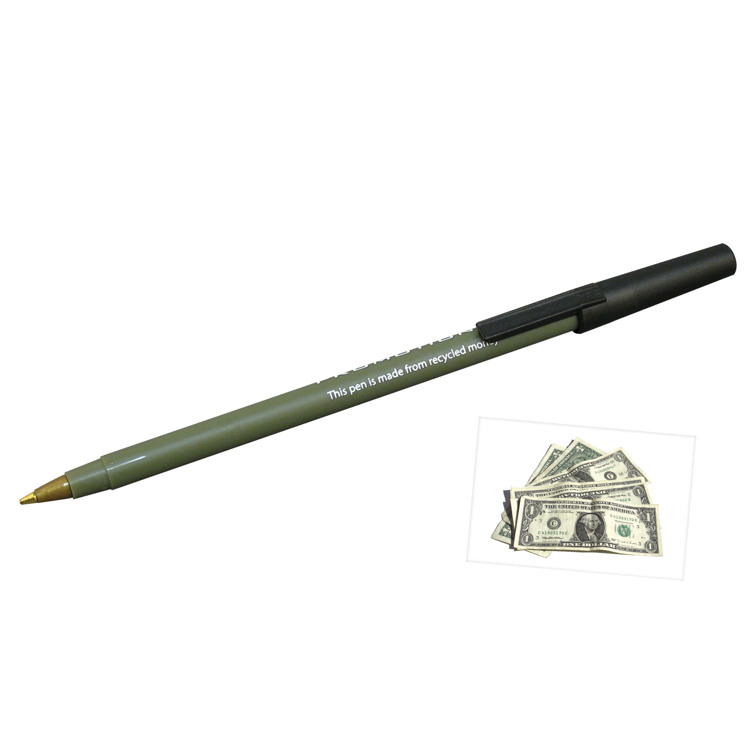 Gerecyceld money stick pen- Bill