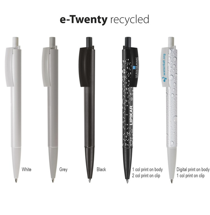 E-twenty logo pen recycled  ABS